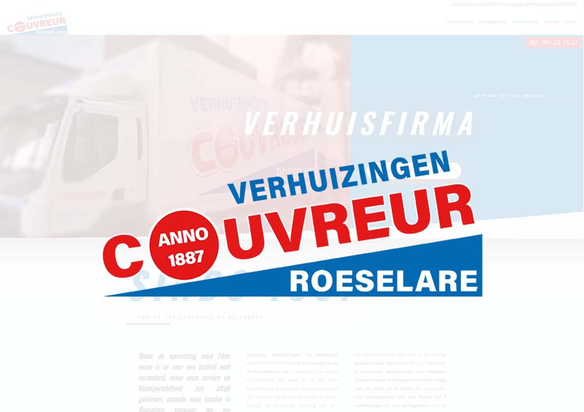 Couvreur Verhuizingen - webdesign creatiefonline Kortrijk